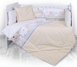 Спален комплект за бебешко креватче - Lilli - 4 части, за матрак с размери 60 x 120 cm -