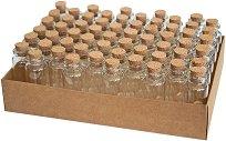 Стъклено шишенце за съхранение на спомени - Комплект от 60 броя с размери 24 x 65 mm