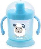 """Неразливаща се чаша с твърд накрайник - 200 ml - От серия """"Haberman"""" за бебета над 9 месеца -"""