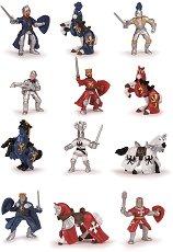 """Рицари с коне - Комплект фигури за игра от серията """"Мини фигури"""" -"""
