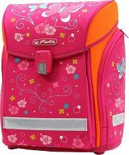 Ергономична ученическа раница - Midi: Pink Butterfly - раница