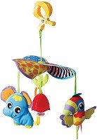 Въртележка - Слонче и папагалче - Играчка за детска количка - играчка