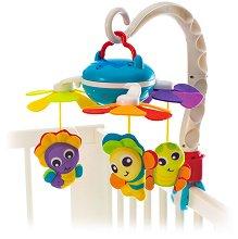 Музикална въртележка - Морски приятели - Играчка за бебешко креватче, кошче или количка - раница
