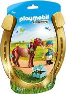"""Ездач на пони с пеперуди - Детски конструктор от серията """"Провинция"""" -"""