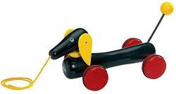 Дакел - Дървена играчка за дърпане -