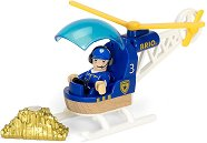 Полицейски хеликоптер - Дървена играчка - играчка