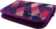 Ученически несесер - Purple Checked - несесер