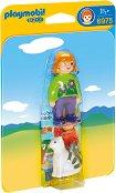 """Момиче с коте - Мини фигури от серията """"Playmobil: 1.2.3"""" - играчка"""