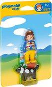 """Момиче с куче - Мини фигурки от серията """"Playmobil: 1.2.3"""" - играчка"""