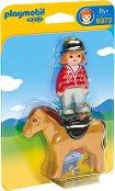 """Дете с конче - Мини фигури от серията """"Playmobil: 1.2.3"""" - играчка"""
