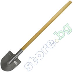 Права лопата със заоблен връх