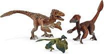 """Динозаври - Пернати раптори - Мини фигури от серията """"Праисторически животни"""" - фигури"""