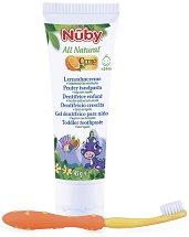 """Детска паста за зъби - Комплект с четка за зъби от серията """"Nuby All Natural"""" -"""