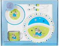 Детски комплект за хранене - Магаренцето Erik - За бебета над 6 месеца -