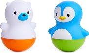 Меченце и пингвинче - Комплект от 2 играчки за баня - играчка