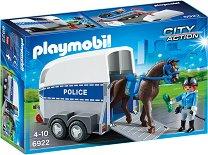 """Полицейски фургон с кон - Детски конструктор от серията """"City Action"""" -"""