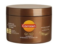 Carroten Gold Shimmer Tanning Gel - Гел за интензивен тен - пудра