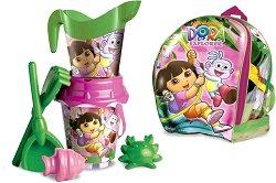 """Комплект за игра с пясък - Детски играчки от серията """"Дора Изследователката"""" -"""