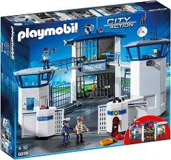 "Затвор с полицейско управление - Детски конструктор от серията ""City Action"" -"