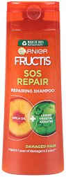 Garnier Fructis SOS Repair Shampoo - Възстановяващ шампоан за суха и увредена коса в разфасовки от 250 и 400 ml - шампоан