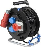 Макара за навиване на кабел с 30 m кабел и 3 гнезда