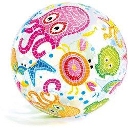 Надуваема топка - Морски животни - детски аксесоар