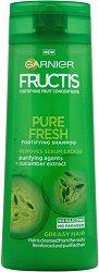 Garnier Fructis Pure Fresh Shampoo - Шампоан за мазна коса с екстракт от краставица - дезодорант