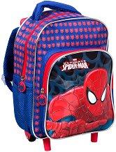 Раница за детска градина с колелца - Spiderman -