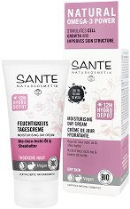 Sante Moisturising Day Cream - Хидратиращ дневен крем за лице с био масла от инка инчи и ший за суха кожа - балсам