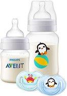 """Комплект за новородено - Пингвин и раче - С шишета и залъгалки от серията """"Classic +"""" -"""