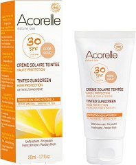 Acorelle Tinted Sunscreen High Protection - SPF 30 - Био тониращ слънцезащитен крем за лице и тяло -