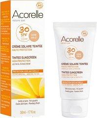 Acorelle Tinted Sunscreen High Protection - SPF 30 - продукт