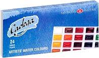 Акварелни бои - Ладога - Комплект от 24 цвята x 2.5 ml -