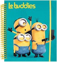 Le Buddies - комплект от книжка за оцветяване със стикери + флумастери и пастели - продукт