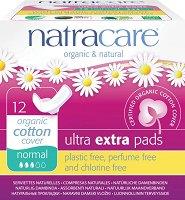 Natracare Ultra Extra Pads Normal - Дамски превръзки с крилца в опаковка от 12 броя - крем