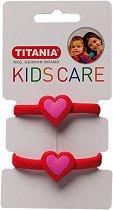 """Детски ластици за коса със сърчица - Комплект от 2 броя от серията """"Kids Care"""" -"""
