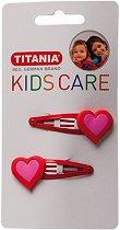"""Детски фиби за коса със сърчица - Комплект от 2 броя от серията """"Kids Care"""" - ластик"""