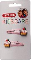 """Детски фиби за коса с кексчета - Комплект от 2 броя от серията """"Kids Care"""" - детски аксесоар"""