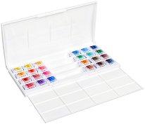 Акварелни бои - Комплект от 24 цвята x 2.5 ml от серията White Nights -