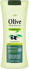 HerbOlive Conditioner Olive Oil & Aloe Vera - Балсам за нормална и мазна коса с маслина и алое вера - продукт