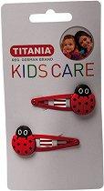 """Детски фиби за коса с калинки - Комплект от 2 броя от серията """"Kids Care"""" - мляко за тяло"""