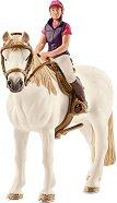 """Жена ездач на кон - Комплект фигури от серията """"Клуб по езда"""" -"""