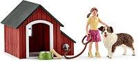 """Дом за куче - Комплект фигури и аксесоари от серията """"Животните от фермата"""" - играчка"""