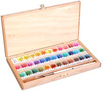 Акварелни бои - Комплект от 36 или 48 цвята x 2.5 ml от серията White Nights -