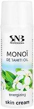 """SNB Monoi de Tahiti Oil Energizing Skin Cream - Енергизиращ крем за лице, ръце и тяло с масло от моной от серията """"Monoi de Tahiti"""" -"""
