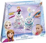 """Създай сама - Рокли за Елза и Анна - Творчески комплект от серията """"Замръзналото кралство"""" -"""