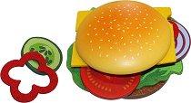 Хамбургер - Комплект дървени фигури - играчка