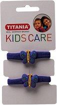 """Детски ластици за коса с пеперуди - Комплект от 2 броя от серията """"Kids Care"""" - мляко за тяло"""