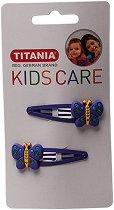 """Детски фиби за коса с пеперуди - Комплект от 2 броя от серията """"Kids Care"""" - лосион"""