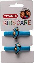 """Детски ластици за коса с морски кончета - Комплект от 2 броя от серията """"Kids Care"""" - мляко за тяло"""